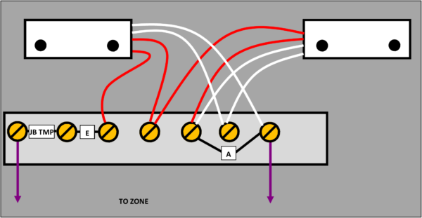 4 wire shared zone JB with tamper