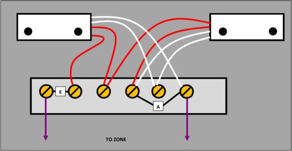 4 wired shared zone JB without tamper