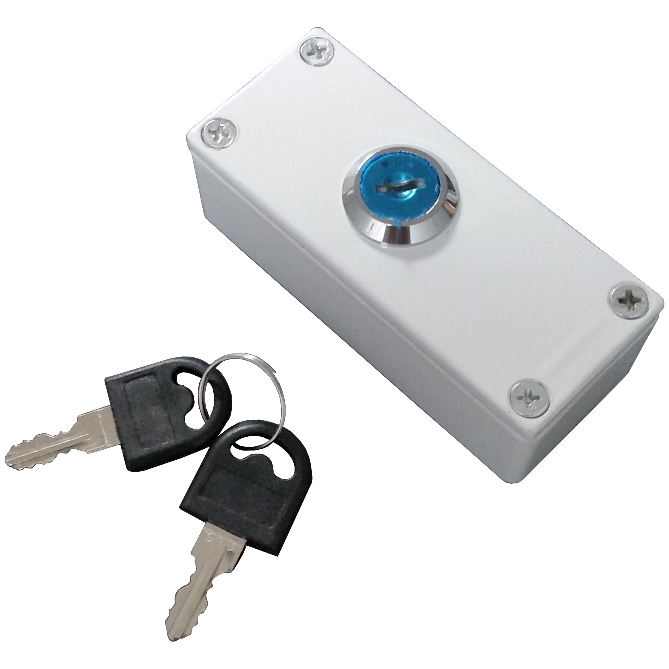 Grade 3 Pass Key Switch, White Diecast Aluminium, Double Pole ...