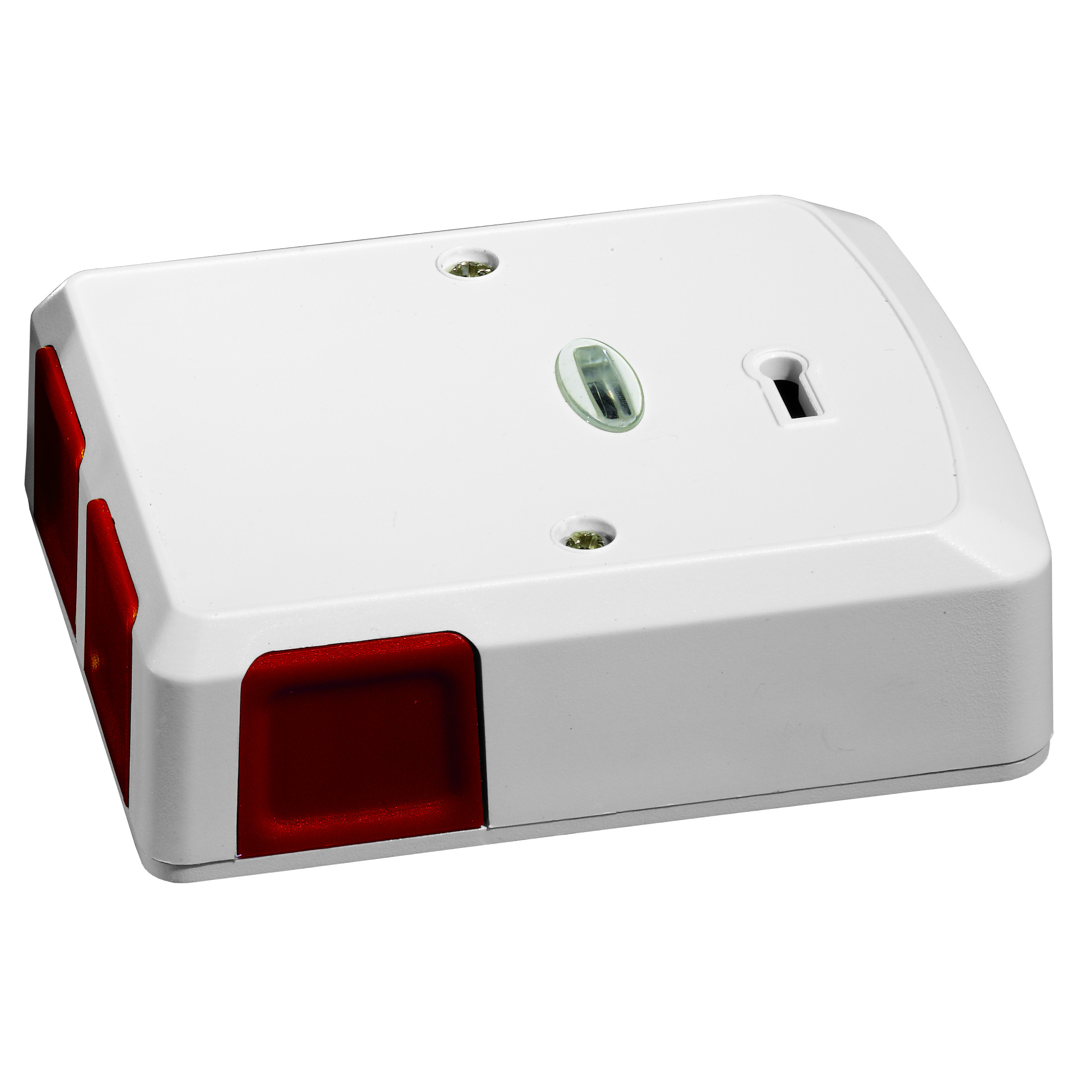 Grade 3 Panic Button Electronic Confirmation 4 With Led And Alarm Wiring Selectable Resistors White Plastic Rear Tamper