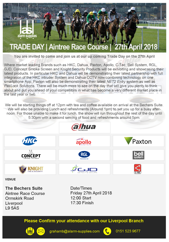 Come visit us at Aintree Racecourse on April 27th 2018!
