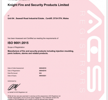 Knight achieve the new ISO 9001:2015 accreditation